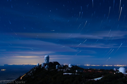 Star Trails over 4 meter clouds